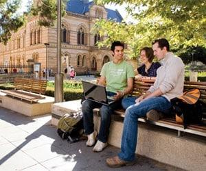 Adelaide university students between classes.