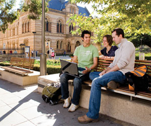 Adelaide university students between classes.
