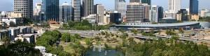 Daytime cityscape of Perth, Western Australia.