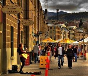 Living in Hobart - Salamanca Markets.