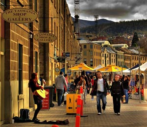 Living in Hobart - Salamanca Markets.