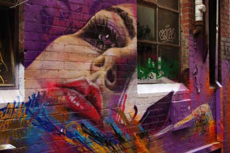 Graffiti art in Melbourne.
