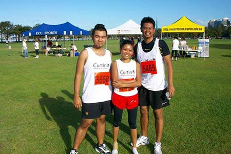 Student living: runners from Curtin University.