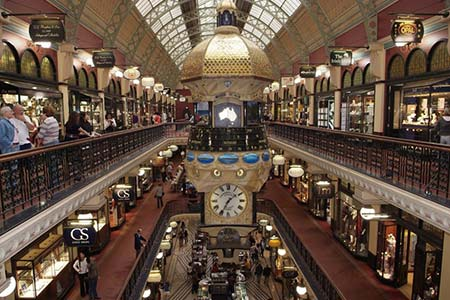 Shopping in the Queen Victoria Building, Sydney.